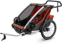 Детская коляска Thule Chariot Cross 2 Roarange-Dark Shadow Оранж